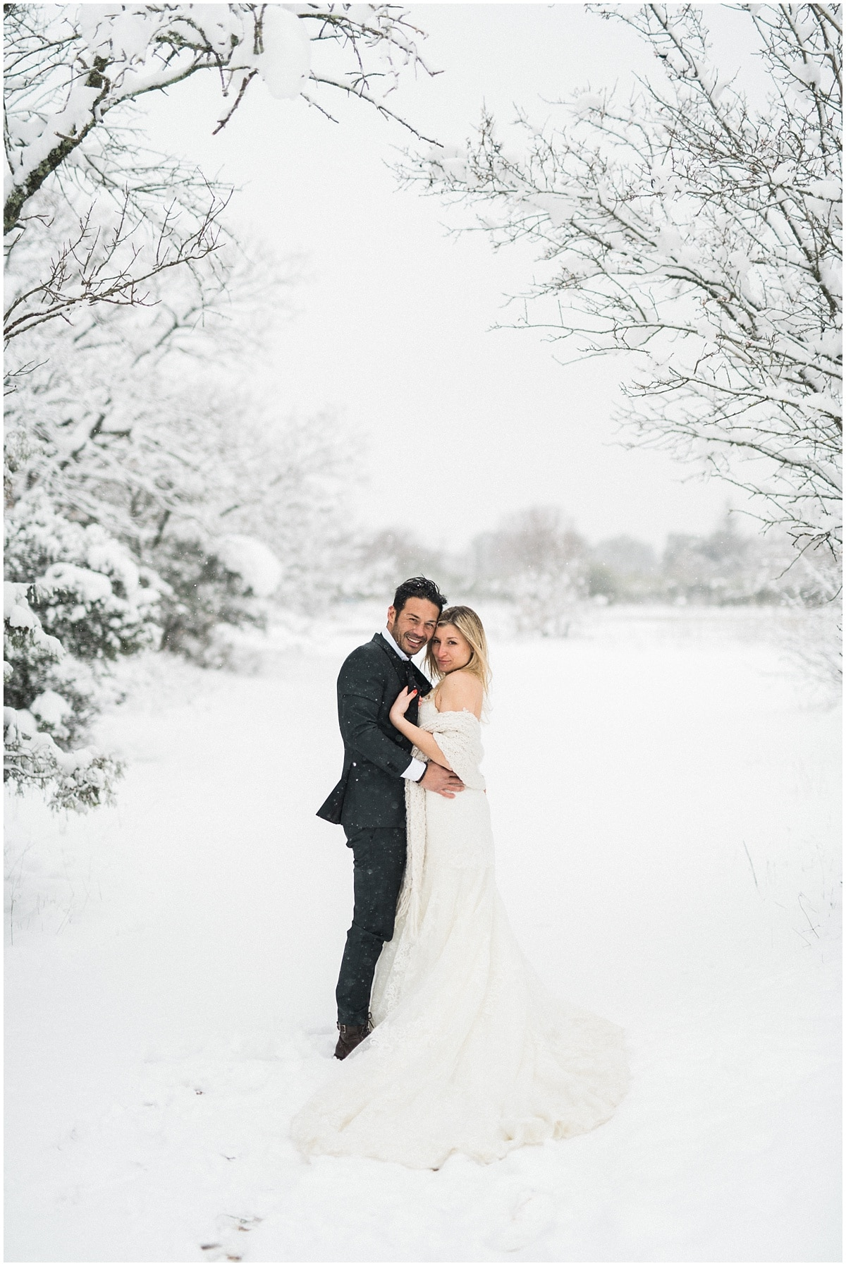 snow wedding in provence french destination wedding photographer