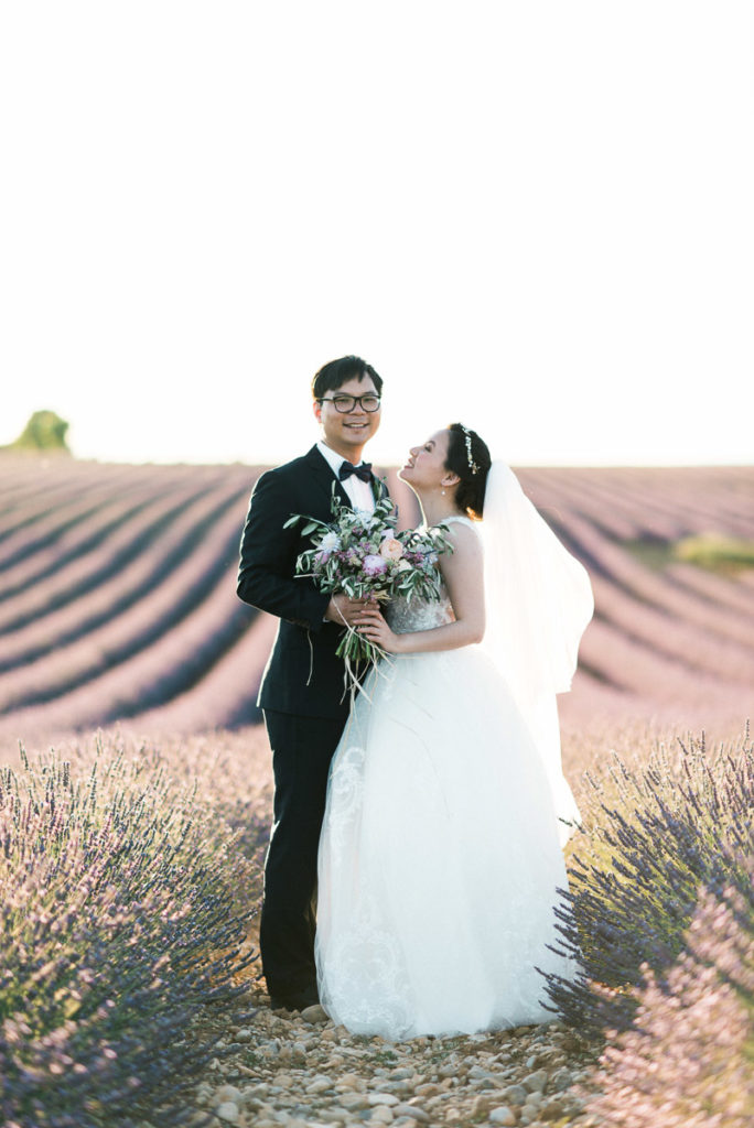chinese valensole lavender pre wedding photographer
