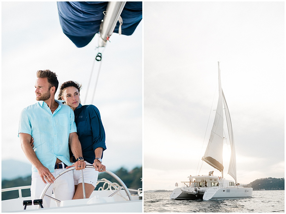 couple elopement french riviera provence saint tropez by Christophe Serrano destination wedding photographer
