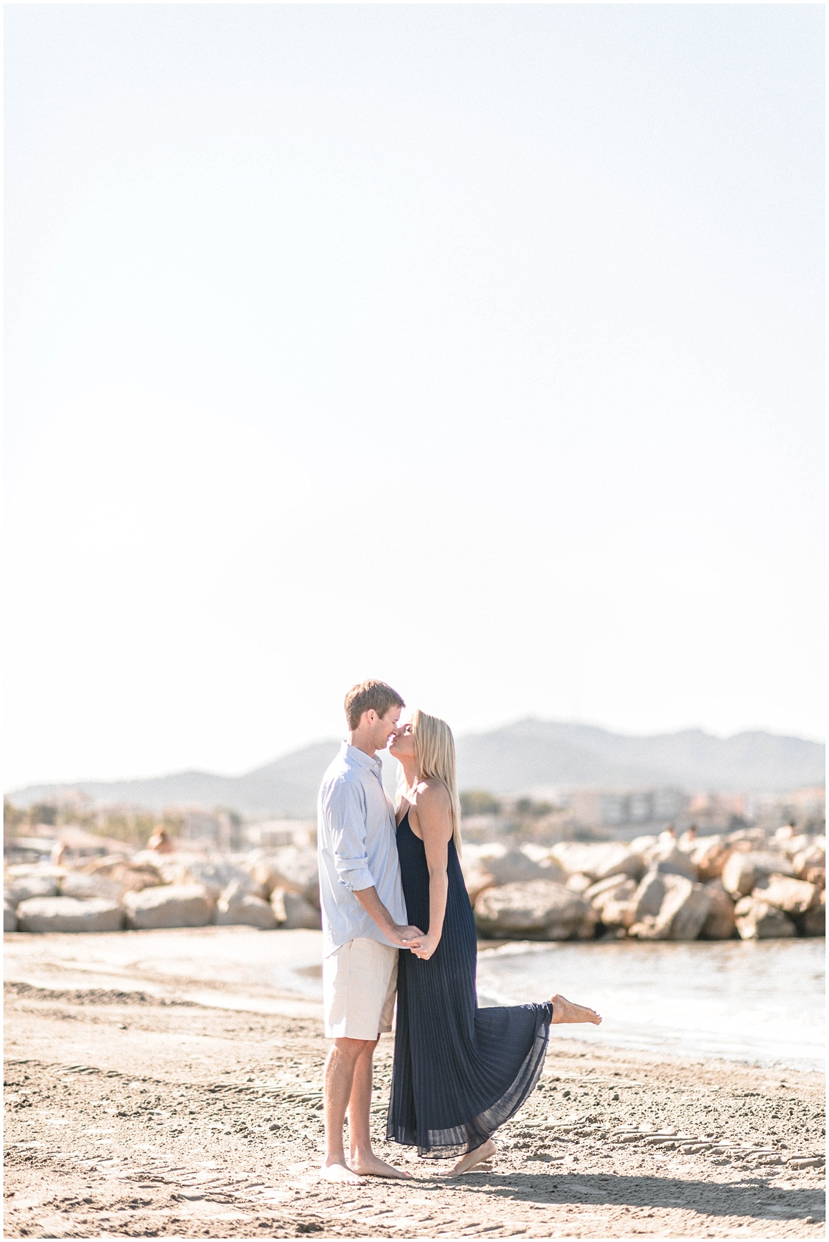 wedding engagement with Washington DC couple in provence