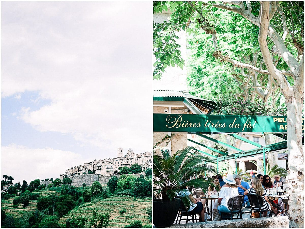 Saint paul de Vence wedding party american destination wedding Christophe Serrano photographer