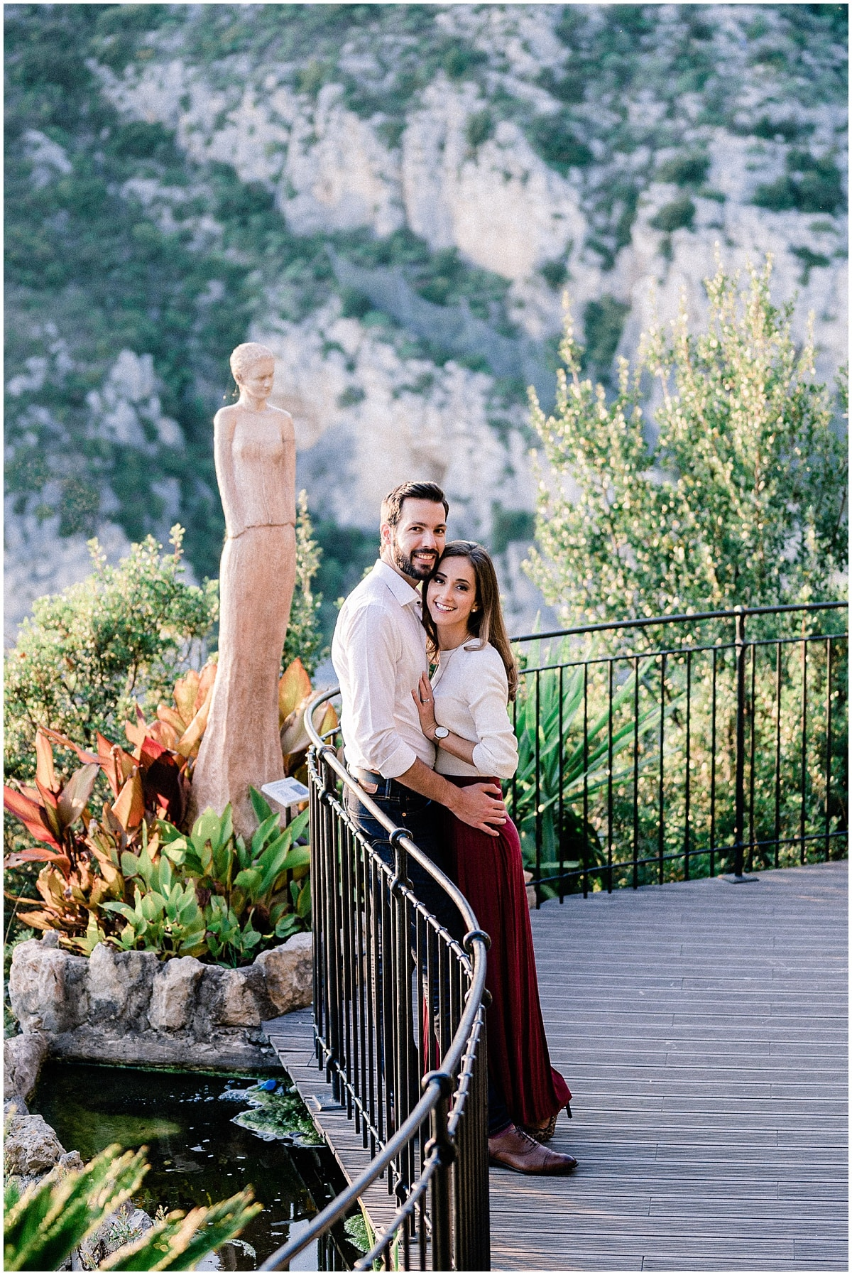 couple mariage photography Engagement photo Eze village french Riviera Photography