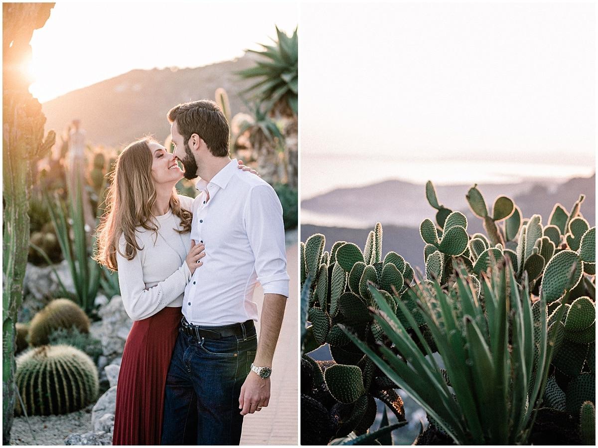 seance couple Engagement photo Eze village french Riviera Photography